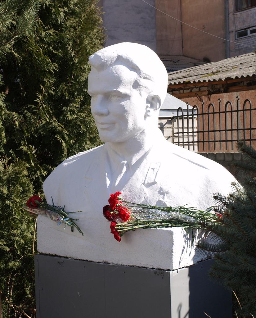 Пам'ятники Юрію Гагаріну на Житомирщині