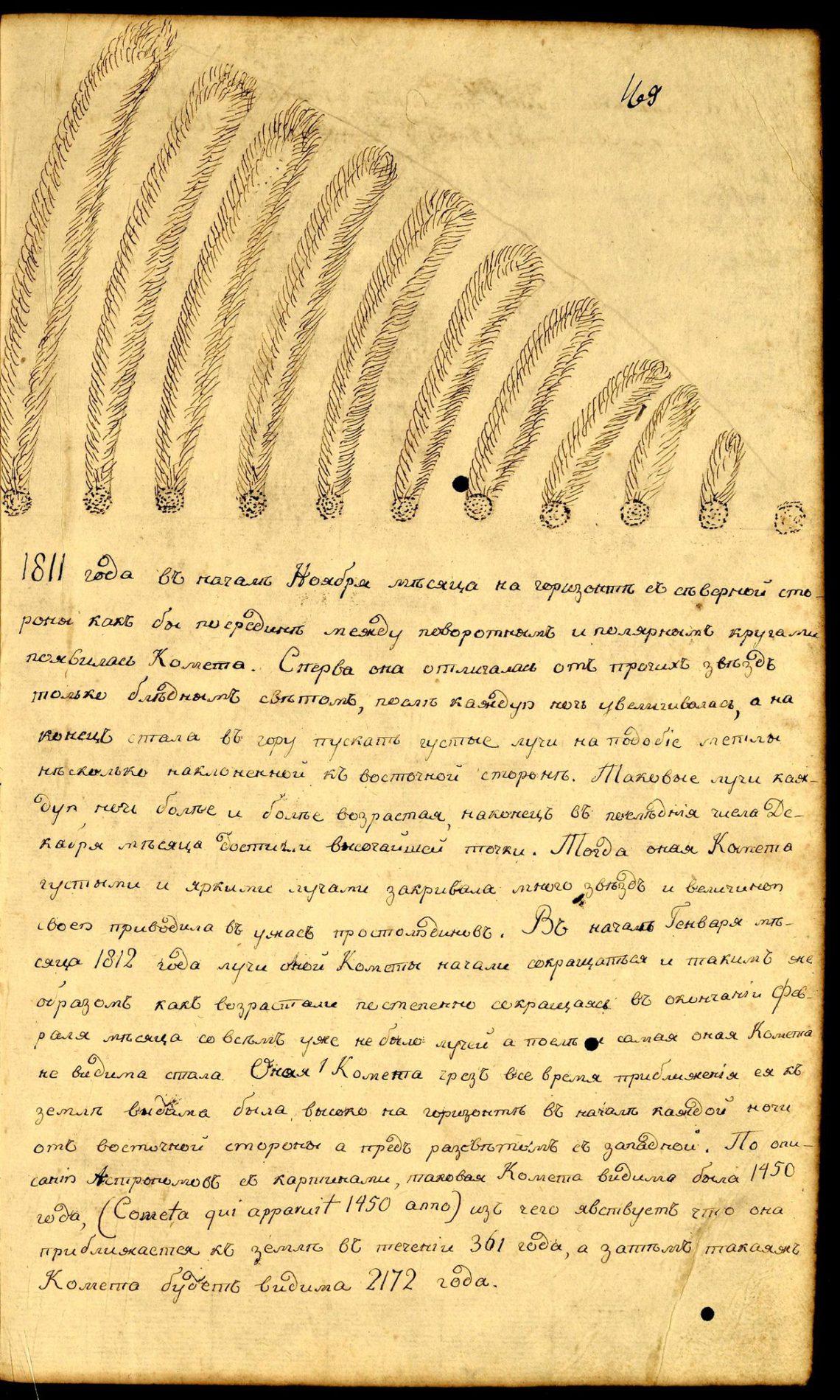 ЗГАДКА ПРО КОМЕТУ 1811 РОКУ
